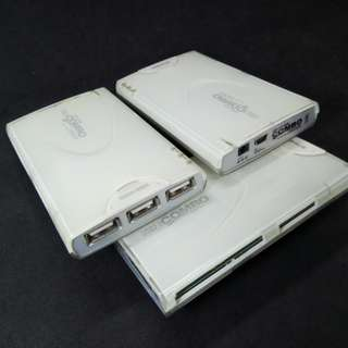 USB 2.0 COMBO USB-Hub & All-in-1 Card Reader