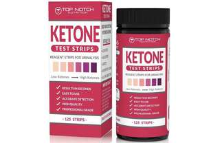 [IN-STOCK] Ketone Test Strips for Testing Ketosis Levels in 15 Seconds Using Urinalysis. Accurate Results to Guarantee You Lose Weight & Feel Great on a Ketogenic, Diabetic, Paleo or Low Carb Diet-125 Strips - Top Notch Nutrition