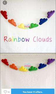 Rainbow Clouds Garland