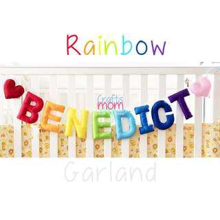 Customized Rainbow Garland