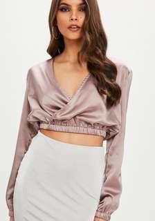 Missguided Silk Crop Top