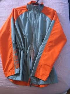 Nike grey and orange windbreaker