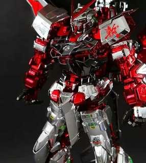 紅迷茫pg金屬電鍍上色完成品