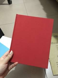Red Hardcover Plain Book
