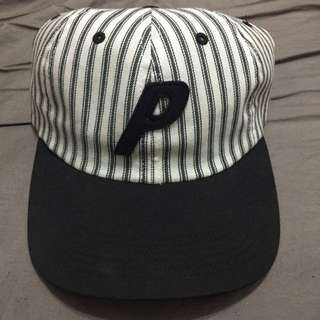 🚚 PALACE 6 panel 黑白 帆布 直條紋 老帽 棒球帽 P LOGO supreme