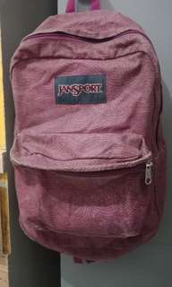Original Jansport Backpack (Magenta Pattern)