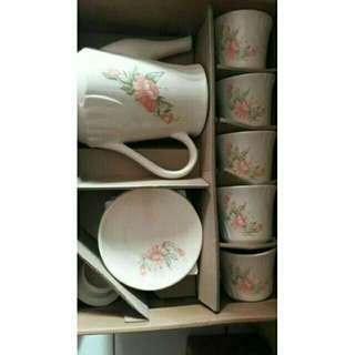 Cangkir set vintage napoleon, cofee set, tea set shabby chic