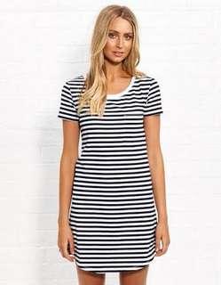 Dotti striped dress (brand new)