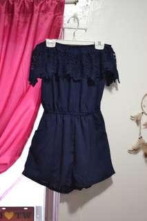 ROMPER off-shoulder dress