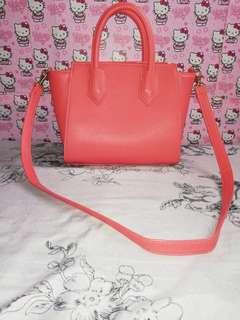 Peach little sling bag
