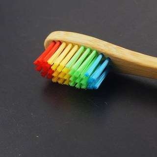 Rainbow Bamboo Toothbrush 🌈