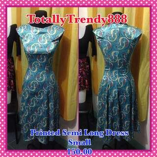 Printed Semi Long Dress