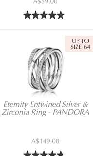 Looking for Pandora Eternity Entwined Ring