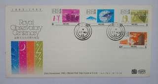 香港皇家天文台百週年紀念郵票首日封