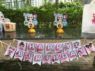 🚚 LOL Surprise Doll birthday banner