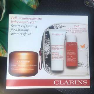 Clarins four piece self tanning set