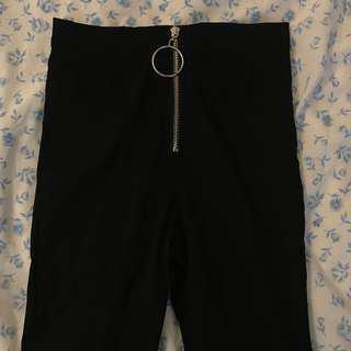 ulzzang ring black pants