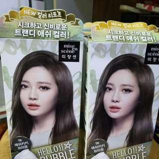 韓國泡泡染髮劑