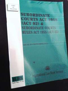 Subordinate Courts Act 1948 (as at 2011)