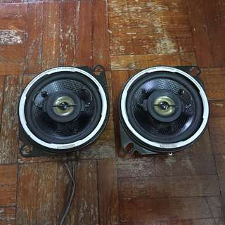 KENWOOD 4 INCH 2 WAY U109 SQ CAR SPEAKERS JAPAN