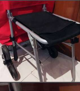 3 wheels market Trolley with seat