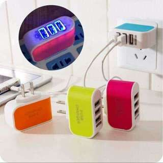 Adaptor 3 USB Charger