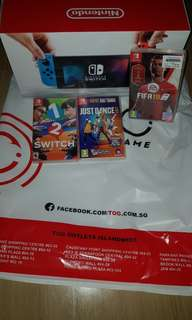 Nintendo switch with box Neon color