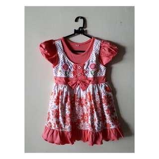 Dress bayi anak bunga bunga