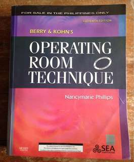 Operating Room Technique 11th edition by Berry and Kohn's