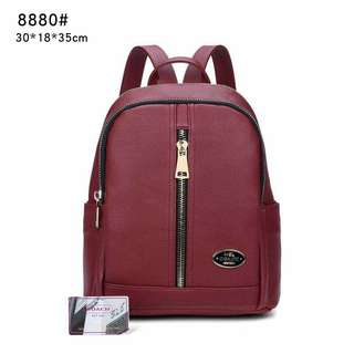 Coach Backpack Maroon Color