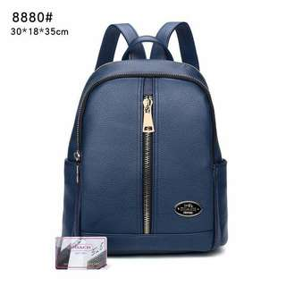 Coach Backpack Blue Color