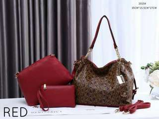 Sembonia 3 in 1 Bags Red Color