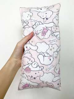 Now avail in smaller size 15 x 30cm , Bean Sprout Husk Pillow / Beanie Pillow , Imported Fabric ( 100% Handmade 100% Cotton , Premium Quality!) Pink Cinnamonroll