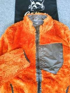 uniqlo monkey fleece reversible jacket