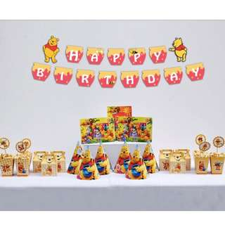 6 pax Winnie the Pooh birthday party set