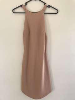Beige tube dress size 8 NEW