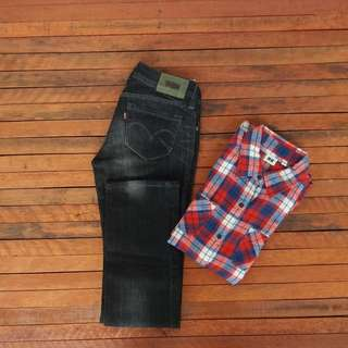 WOMEN | UNIQLO SECOND DAN LEVIS SECOND