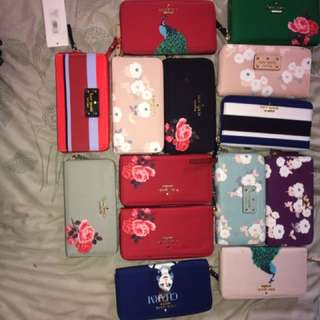 Kate spade authentic overrun wallets