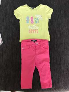 🚚 DKNY kids shirt and Jeans / DKNY Girl / 12 Months / 1yo / 2yo