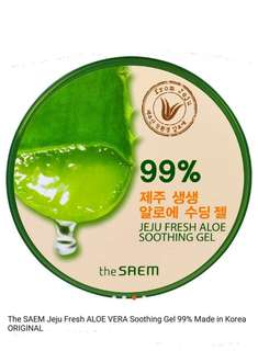 The saem Jeju Fresh Aloevera Soothing gel