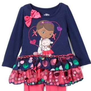 Disney Doc McStuffins Navy Casual Dress 5T