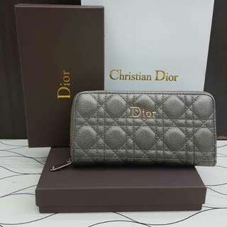 Dior Wallet Silver Grey Color