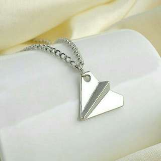 FREE! Silver Paper Plane Necklace