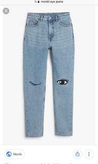 Monki Kimomo Eye Jeans