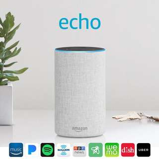 🚚 [Brand New & Authentic] Amazon Echo (2nd generation) - Smart speaker with Alexa - Sandstone Fabric comes with ONE-Year Warranty and SAME Day Delivery at S$128!