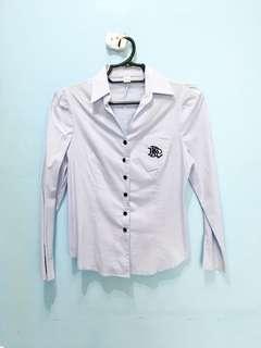 Blue office attire blouse