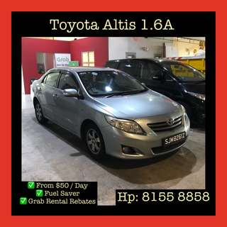 Toyota Corolla Altis  - Grab Car Rental, Uber welcomed