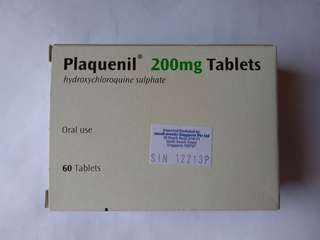 Plaquenil Hydroxychloroquine 200 mg