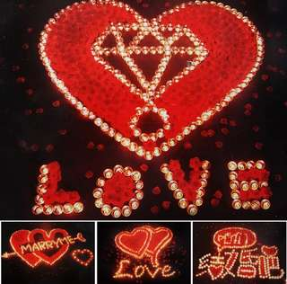 Love proposal marriage led lights