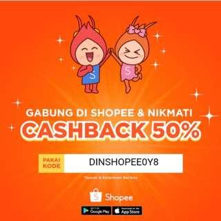 CASHBACK 50%!!